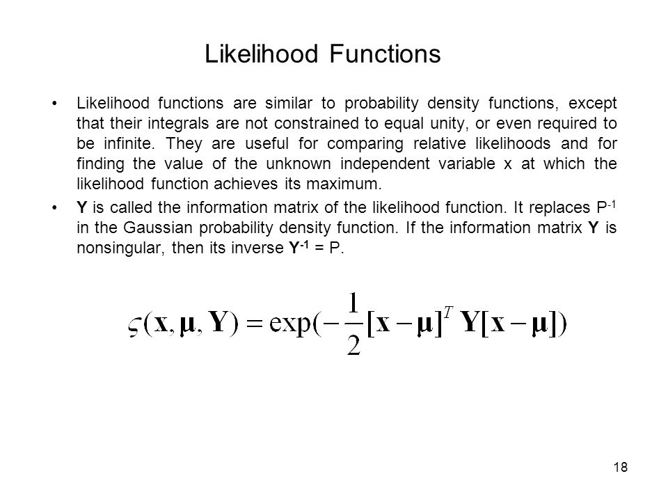 Likelihood Functions