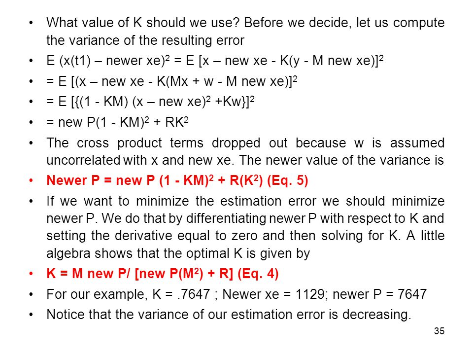 What value of K should we use