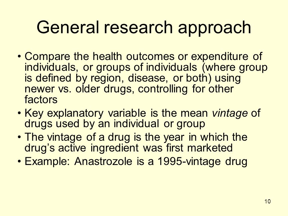 General research approach