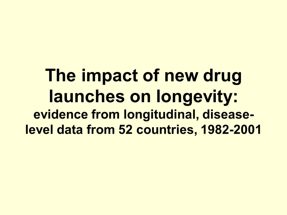 The impact of new drug launches on longevity: evidence from longitudinal, disease-level data from 52 countries, 1982-2001