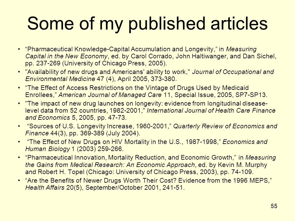 Some of my published articles