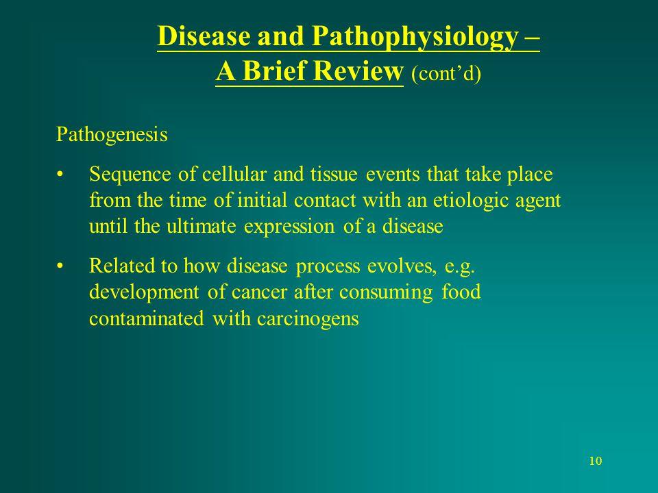 Disease and Pathophysiology –