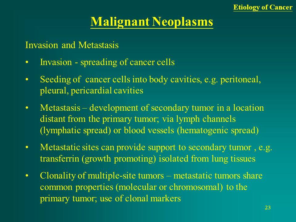 Malignant Neoplasms Invasion and Metastasis