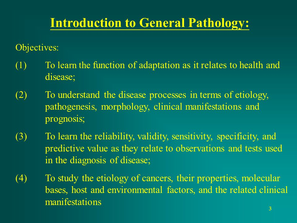 Introduction to General Pathology: