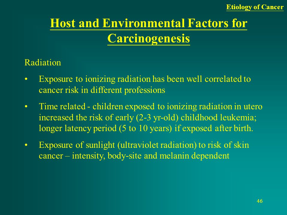 Host and Environmental Factors for Carcinogenesis