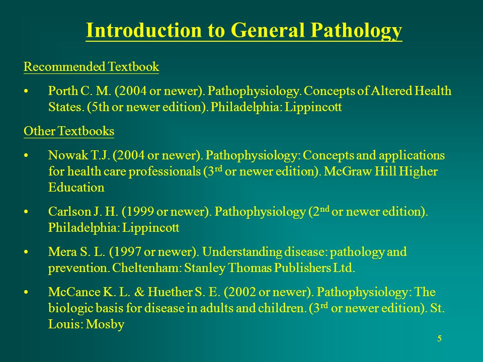 Introduction to General Pathology