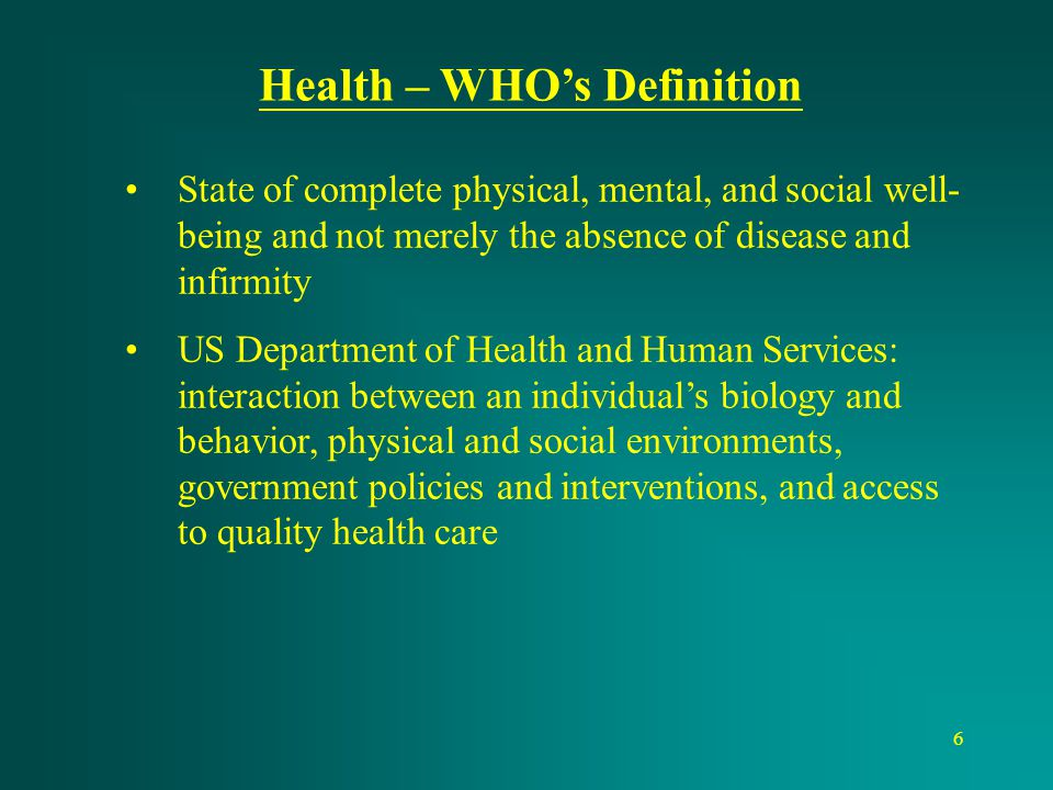 Health – WHO's Definition
