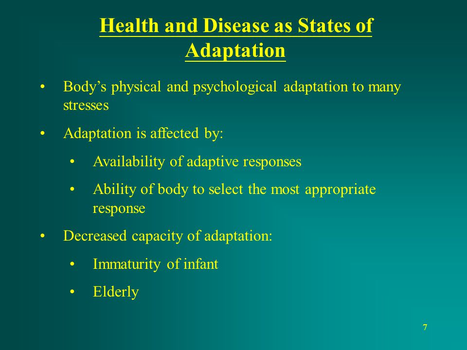 Health and Disease as States of Adaptation