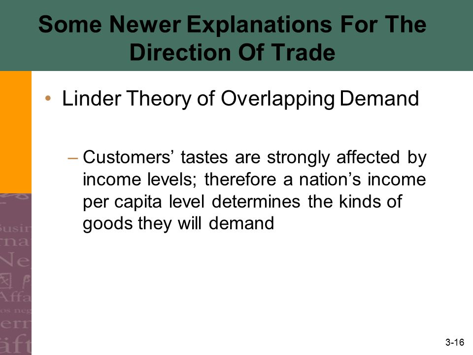 Some Newer Explanations For The Direction Of Trade