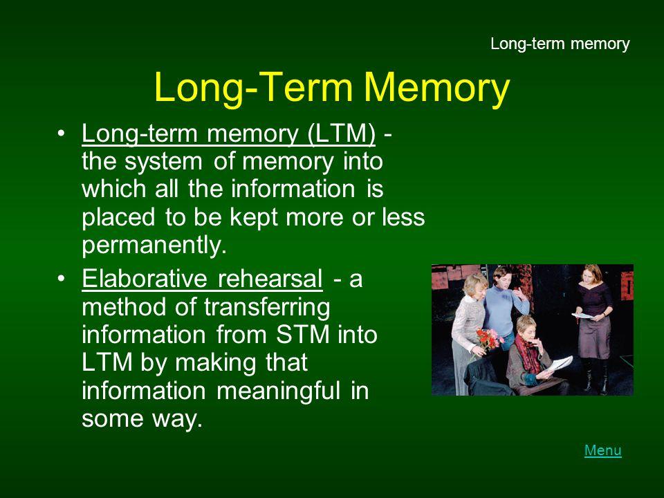 Long-term memory Long-Term Memory.