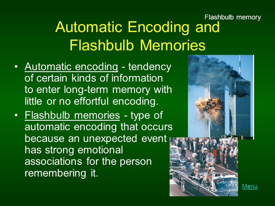 Automatic Encoding and Flashbulb Memories