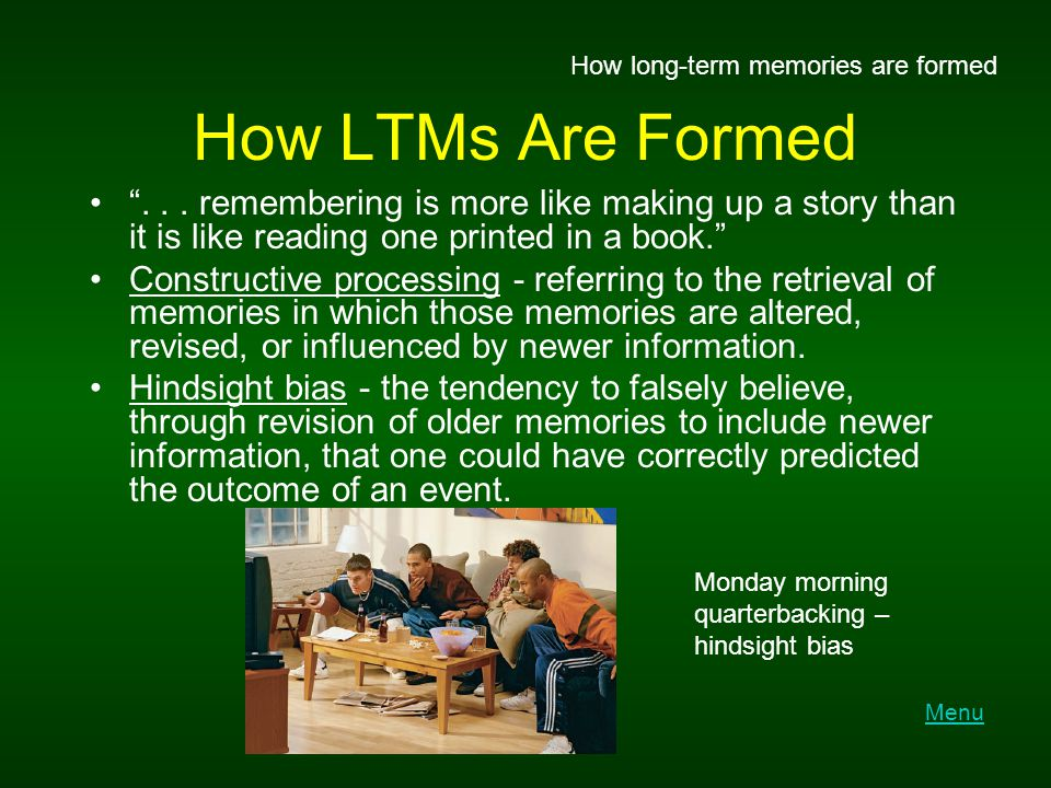 How long-term memories are formed