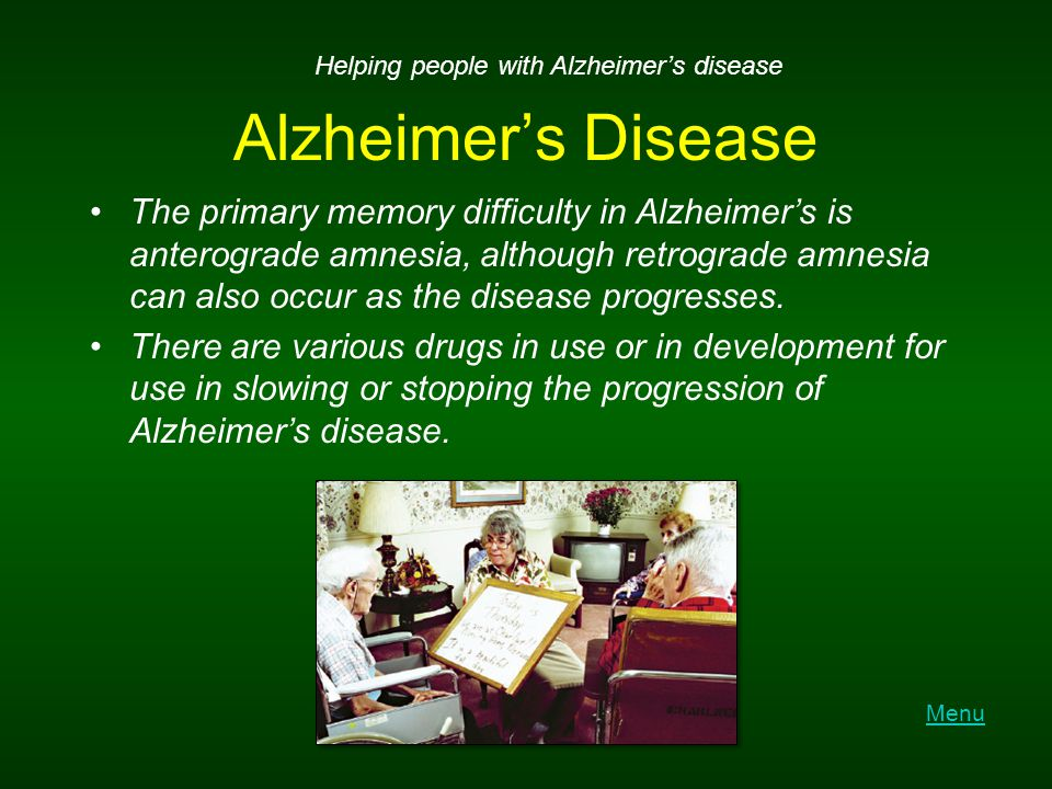 Helping people with Alzheimer's disease