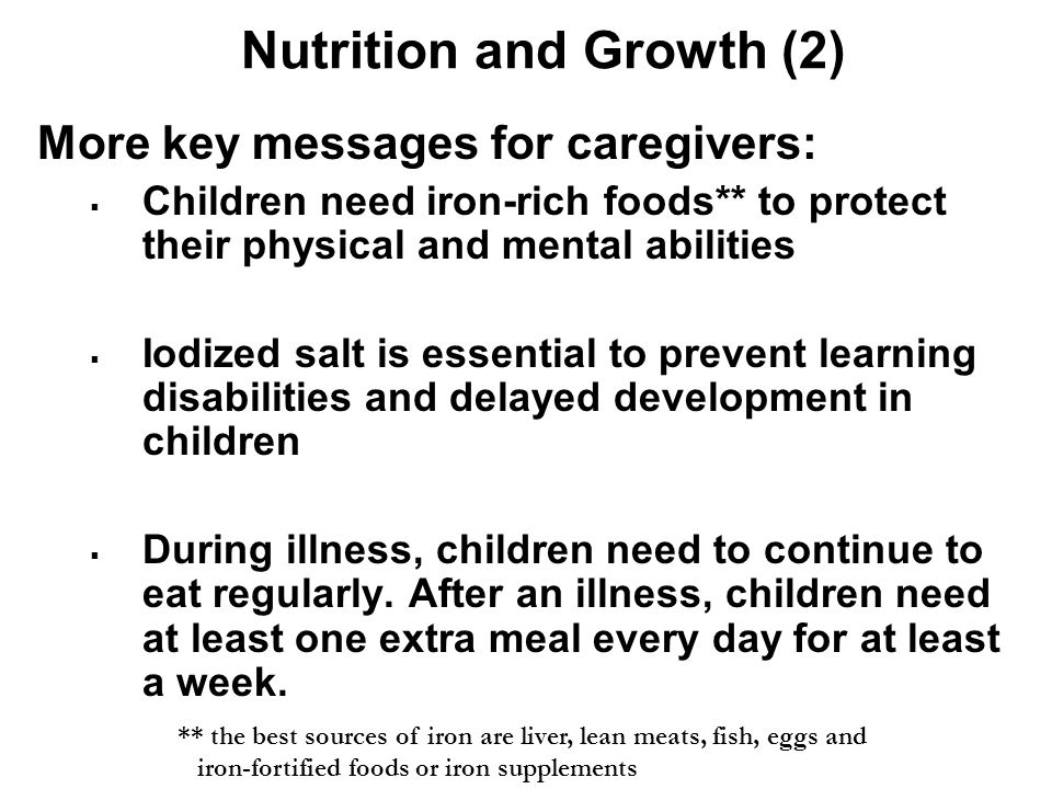 Nutrition and Growth (2)