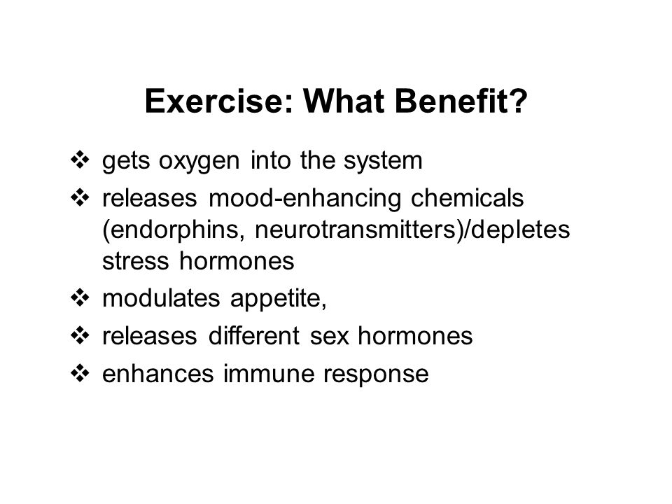 Exercise: What Benefit