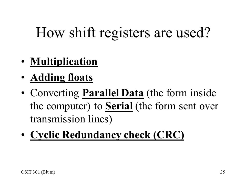How shift registers are used