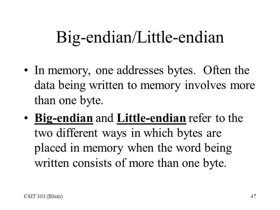 Big-endian/Little-endian