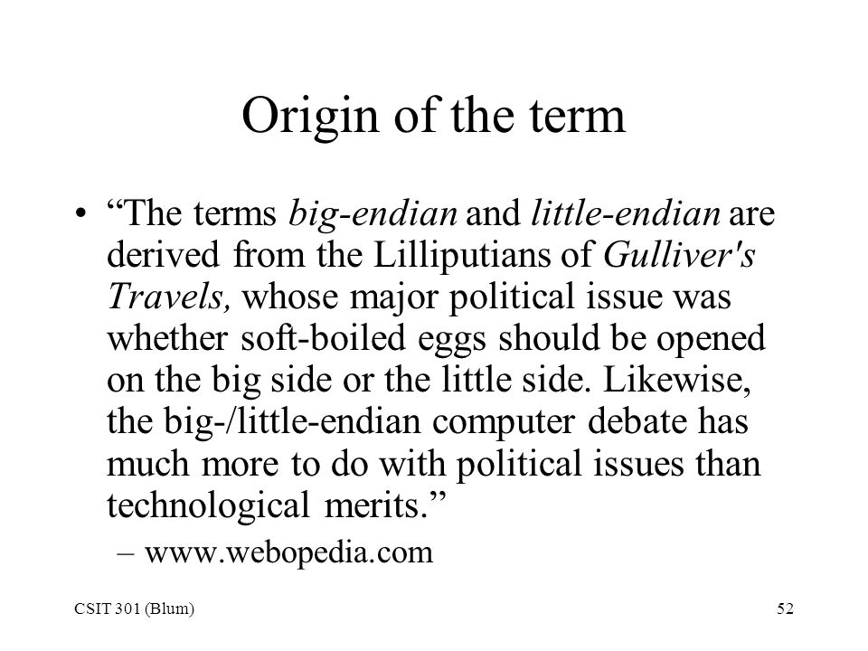 Origin of the term