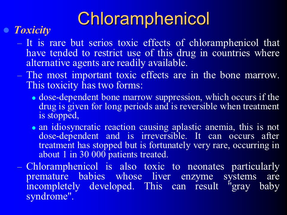Chloramphenicol Toxicity