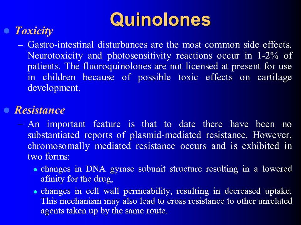 Quinolones Toxicity Resistance