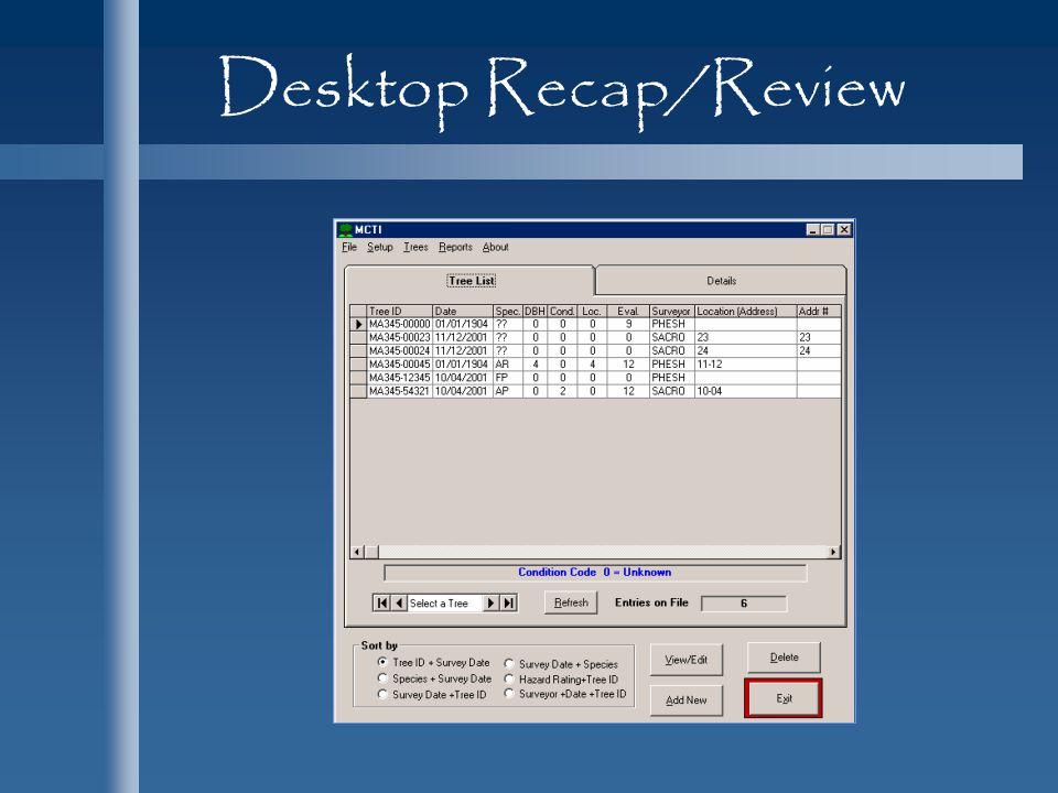 Desktop Recap/Review