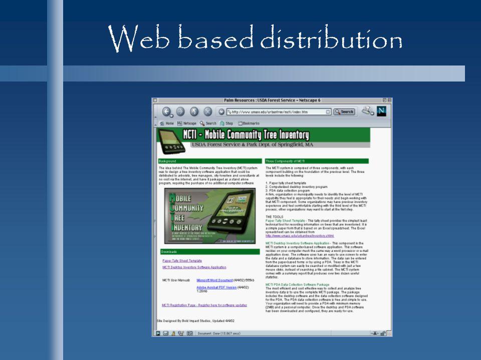 Web based distribution