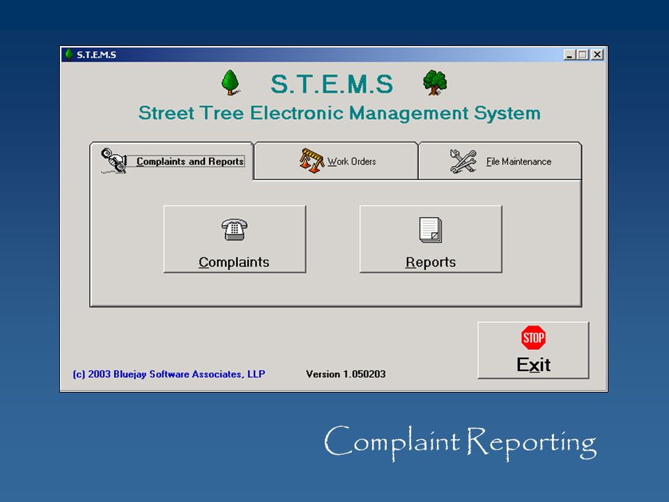 Complaint Reporting