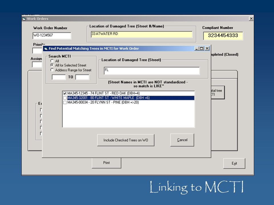 Linking to MCTI