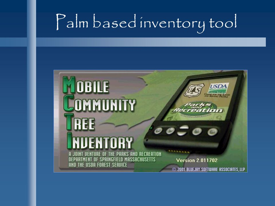 Palm based inventory tool