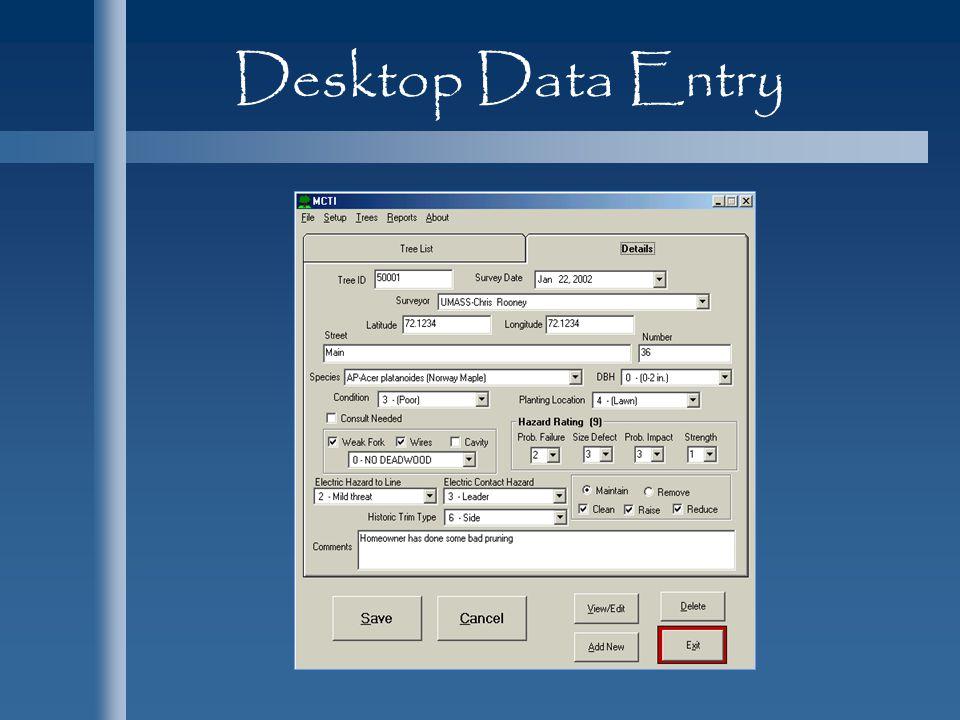 Desktop Data Entry
