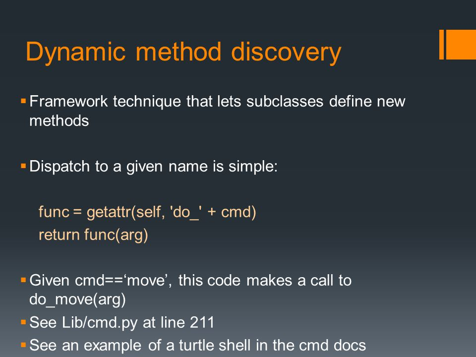 Dynamic method discovery