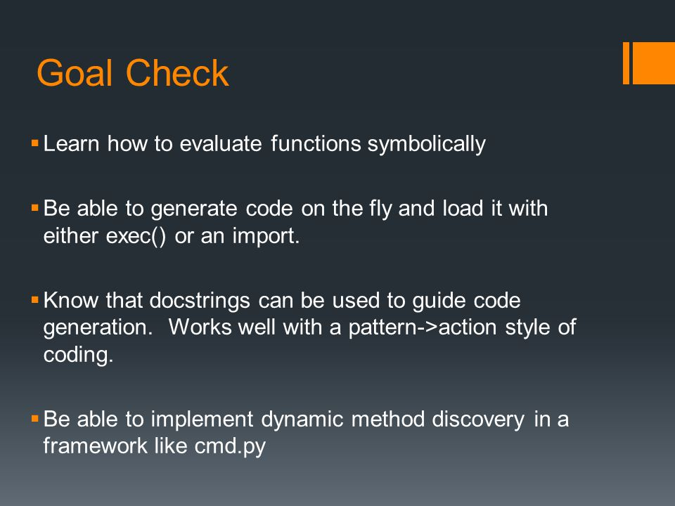 Goal Check Learn how to evaluate functions symbolically