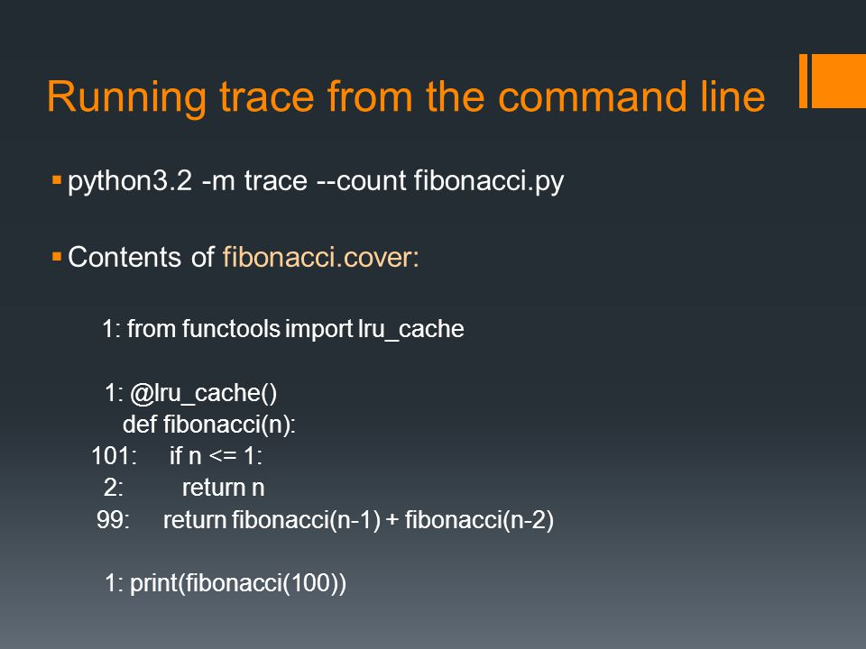 Running trace from the command line
