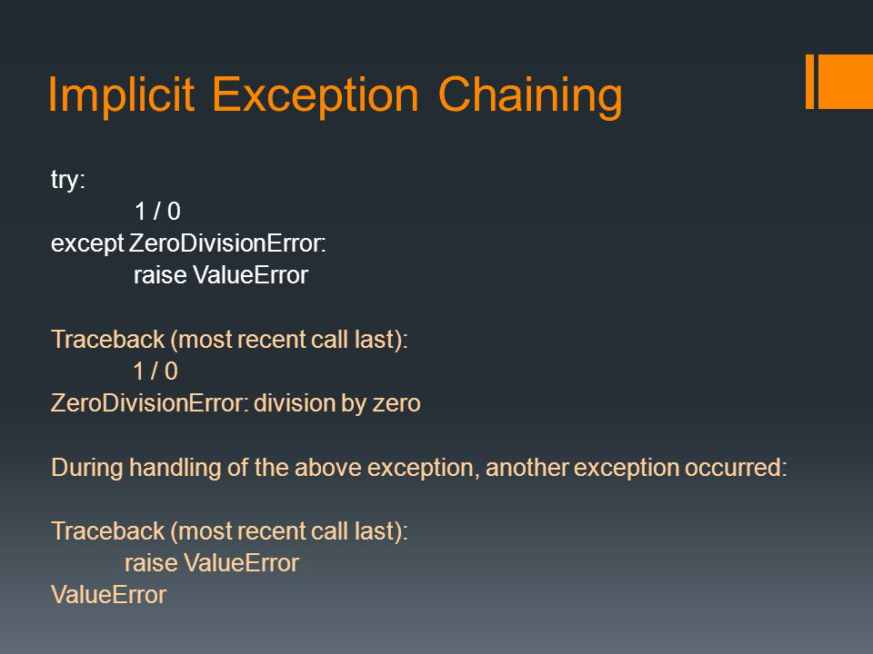 Implicit Exception Chaining