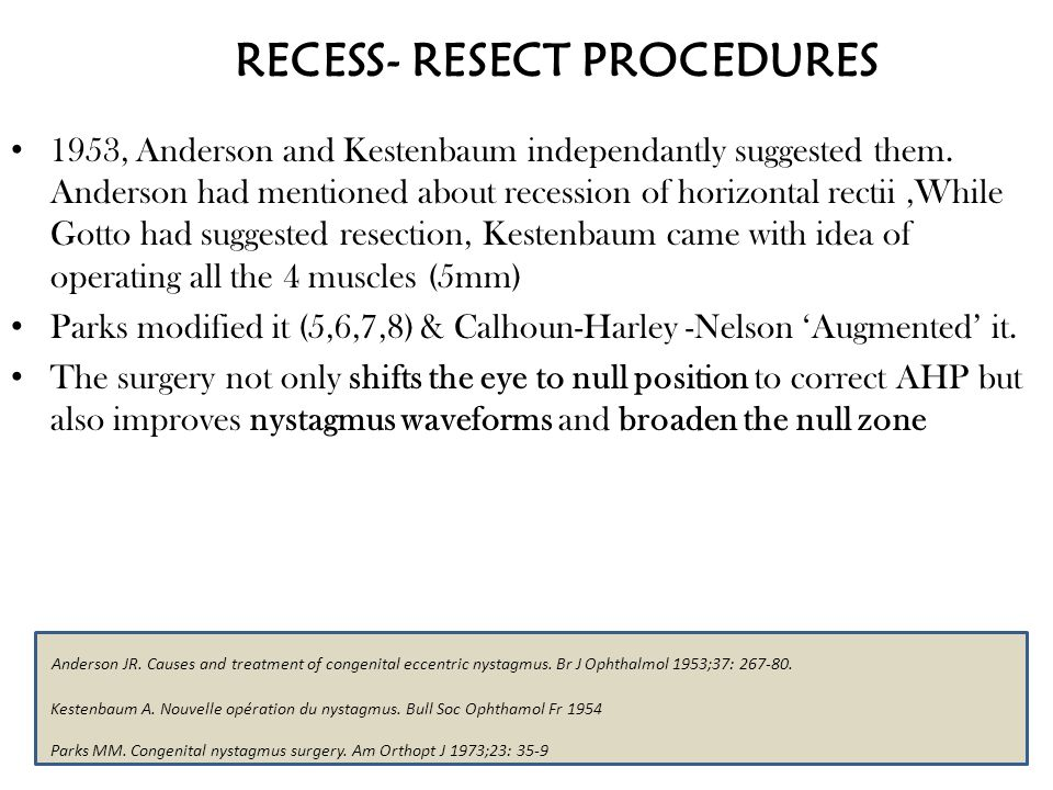 RECESS- RESECT PROCEDURES