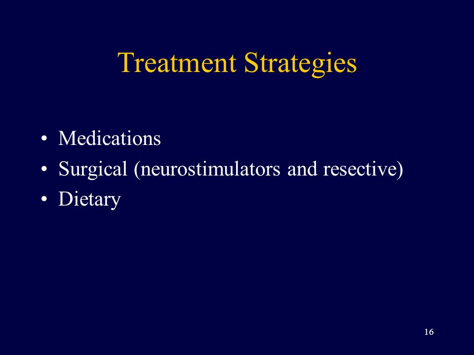Treatment Strategies Medications