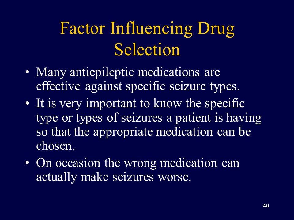Factor Influencing Drug Selection