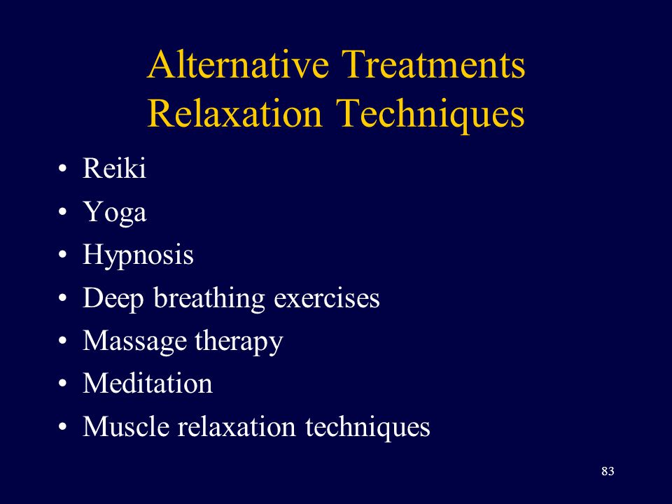 Alternative Treatments Relaxation Techniques