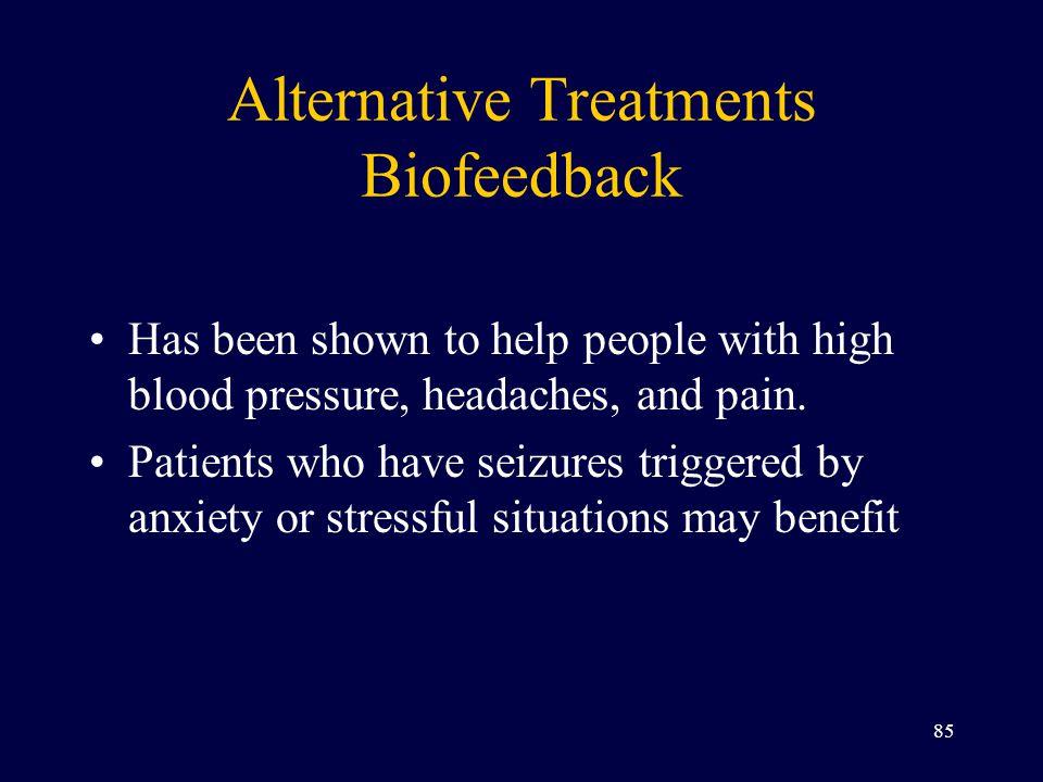 Alternative Treatments Biofeedback