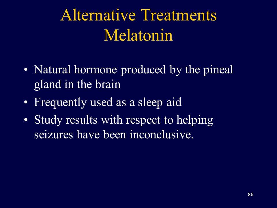 Alternative Treatments Melatonin
