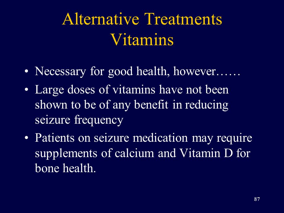 Alternative Treatments Vitamins