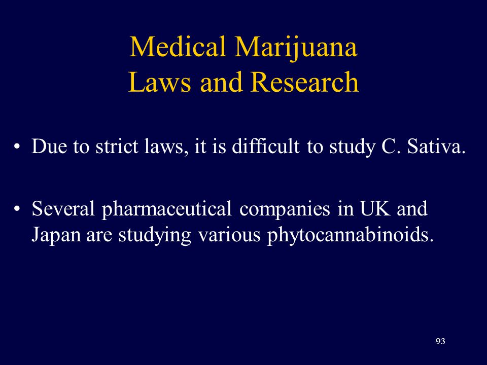 Medical Marijuana Laws and Research