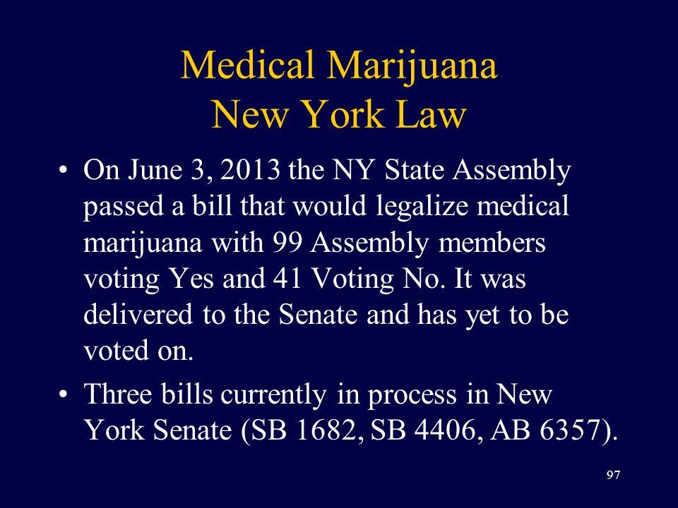 Medical Marijuana New York Law