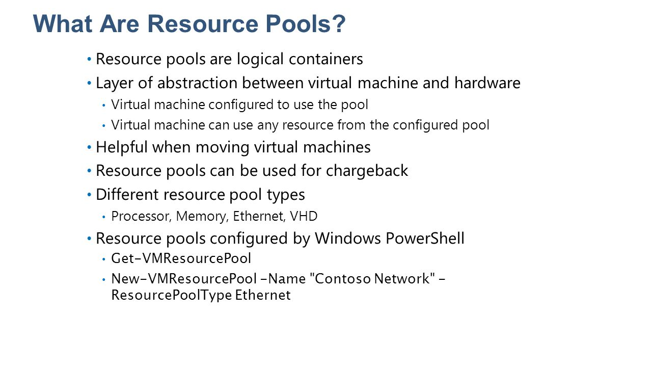 What Are Resource Pools