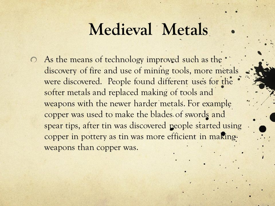 Medieval Metals