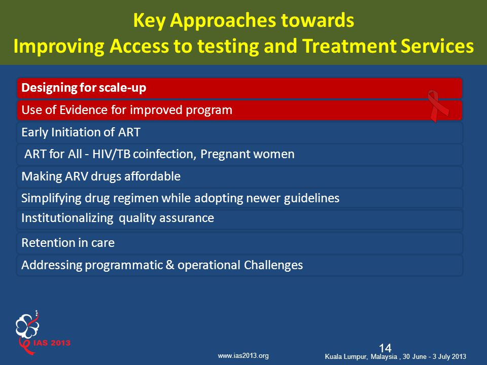 Key Approaches towards Improving Access to testing and Treatment Services