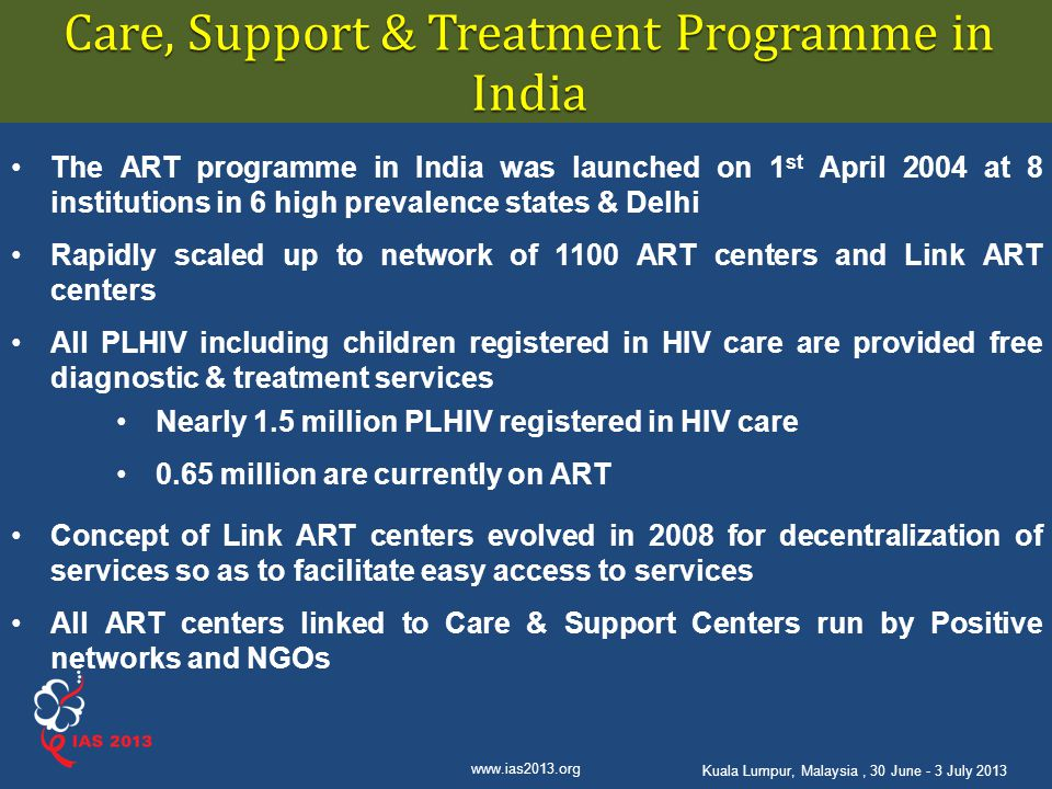 Care, Support & Treatment Programme in India