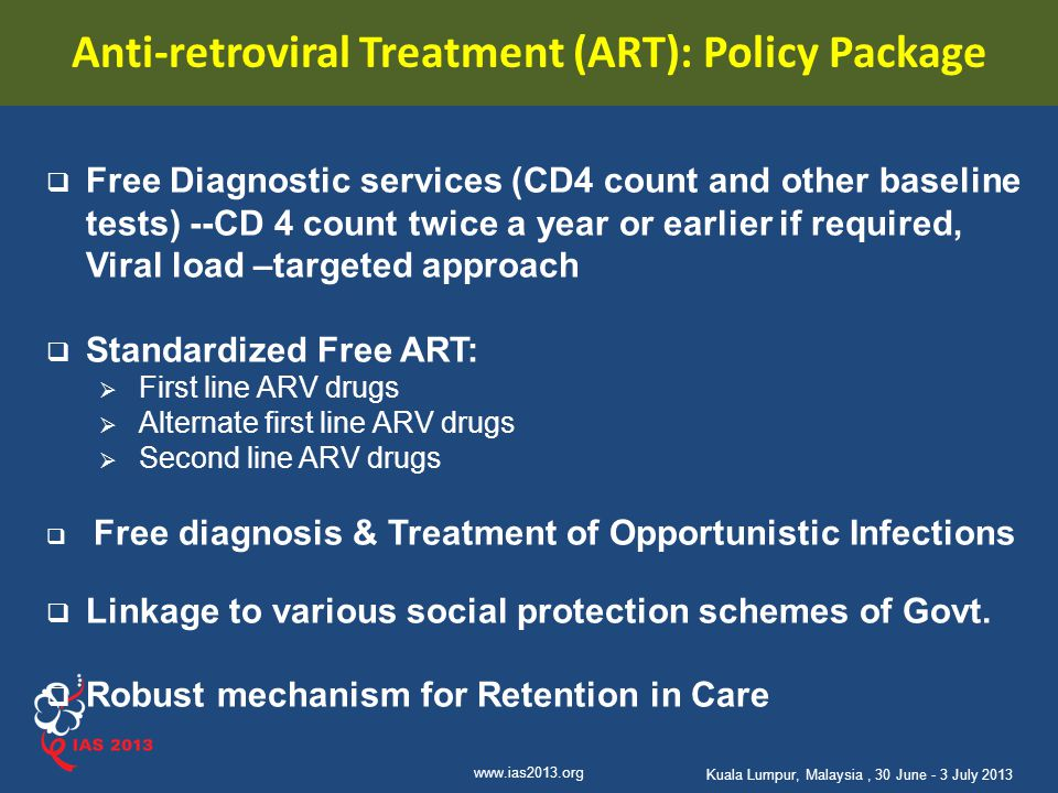 Anti-retroviral Treatment (ART): Policy Package