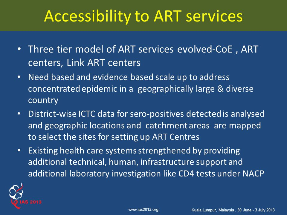 Accessibility to ART services
