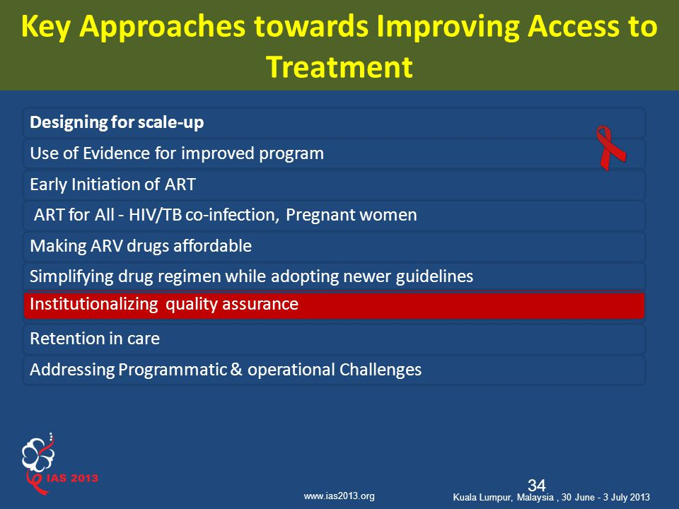 Key Approaches towards Improving Access to Treatment